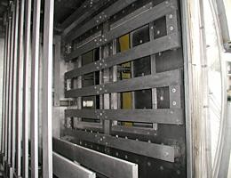 Multi-elemented hot zone for uniform brazing of heat exchanger components