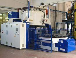 Special 1.5 metre diameter bottom loaded vacuum furnace for research institute